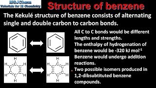 10.1 Evidence for the structure of benzene (SL)