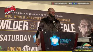 DEONTAY WILDER; ANTHONY JOSHUA, TYSON FURY, AND STOPPING TALKS ABOUT STOPPING DOMINIC BREAZEALE!