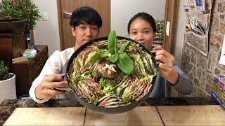 |Tập 350| LẨU THỊT BÒ NGÀN CHIẾC LÁ MUKBANG.MILLE- FEUILLE EATING SHOW. 밀푀유나베 먹기.