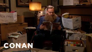 """Andy Catches Up On 30 Years Of """"The New Yorker"""" - CONAN on TBS"""