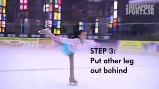 Figure Skating - Dancing on ice (Waltz jump, forward crossover, spiral, 2 foot spin)