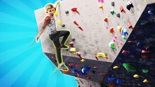Rock Climbing Parkourse Challenge!!