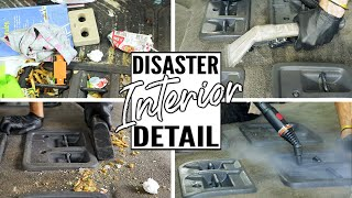 Complete Disaster Full Interior Car Detailing Honda Odyssey! Cleaning Dirtiest Van Interior Ever!