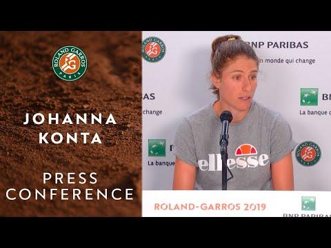 Johanna Konta - Press Conference after Round 4 | Roland-Garros 2019
