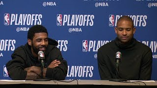 Kyrie Irving & Al Horford Postgame Interview - Game 1 | Celtics vs Bucks | 2019 NBA Playoffs