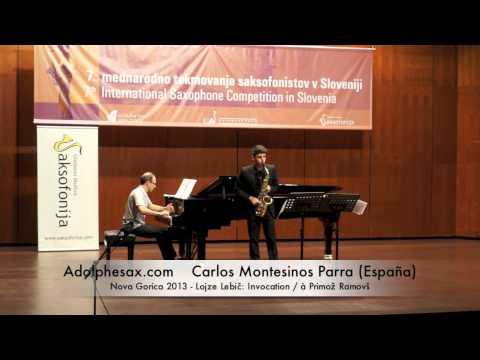 Carlos Montesinos Parra Nova Gorica 2013 Lojze Lebič Invocation : à Primož Ramovš