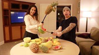 REAL LIFE FRUIT NINJA!! (EXTREME)