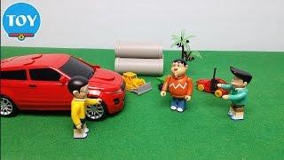 Đồ chơi doremon chế hài - Suneo khoe Nobita xe hơi điều khiển từ xa