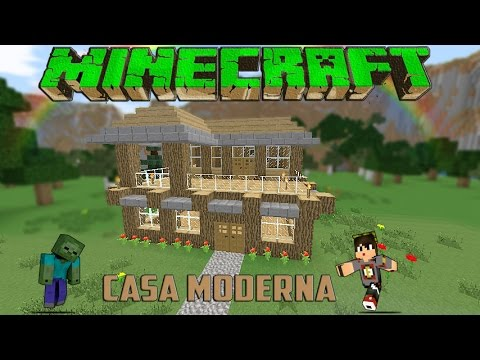 Minecraft casa moderna de madera facil tutorial 1 for Casas modernas minecraft faciles
