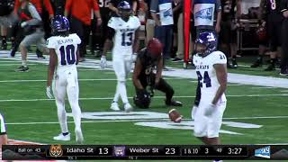 Final highlights: No. 3 Weber State 26 Idaho State 13