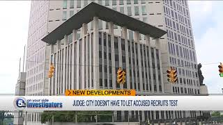 Judge won't force city to let recruits take test