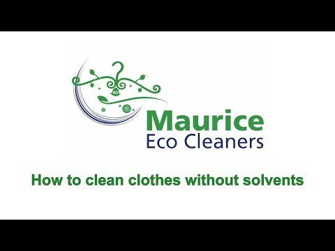 How to clean clothes without solvents