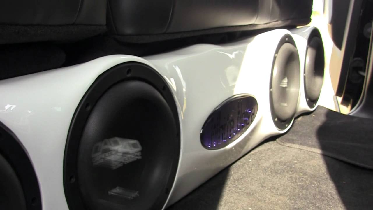 "DAD KMH 8"" Subwoofer PORN! ""White Noise"" Lifted F-250 ..."