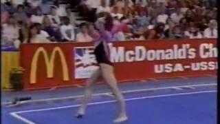 Oksana Chusovitina 1990 USA vs. USSR Floor