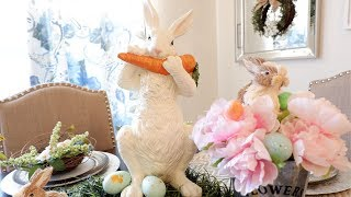 2019 EASTER DECOR TOUR + DECORATE WITH ME!