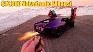 FIRST DRIVE in my Flame Throwing Lamborghini Aventador