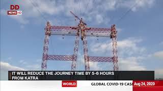 Construction of the world's highest railway bridge underwa..