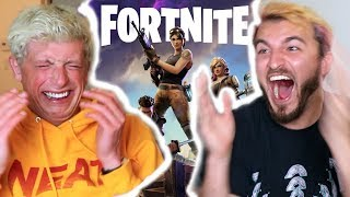 YOUTUBERS PLAY FORTNITE FOR THE FIRST TIME!! (FREAKOUT)