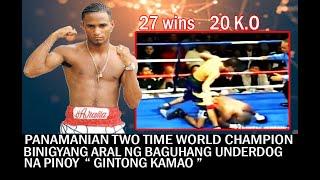 GINTONG KAMAO PINAG LARUAN LAMANG ANG ISANG TWO TIME WORLD CHAMPION NA HEAVY UNDERDOG SA LABAN