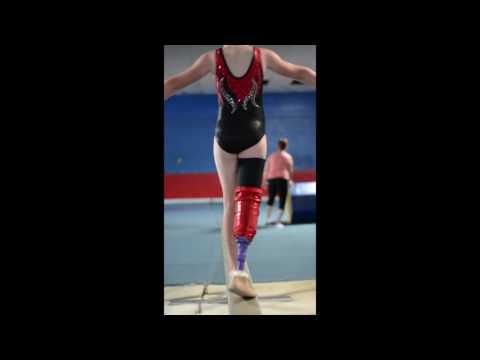 RUSH Foot Adaptive Gymnast Averie Mitchell's Balance Beam Routine