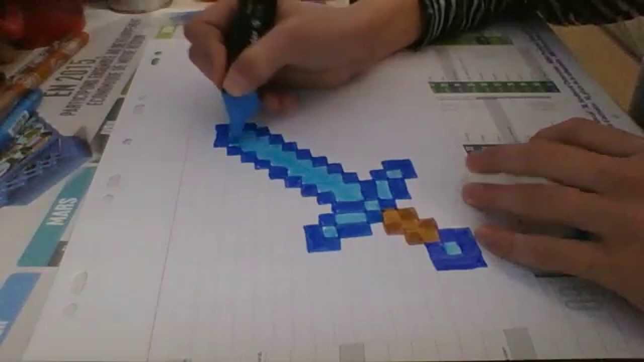 Dessin Minecraft Episode 1 L Epee En Diamant