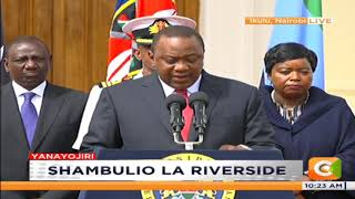 Uhuru Kenyatta : The security operation at Dusit complex is over and all terrorists eliminated