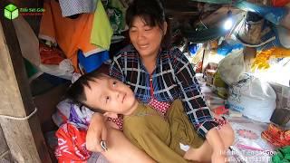 Xót Xa Thi Thăm Bé Nhật Cường Bị Não Ung Thủy Sống Trên Chiếc Thuyền Nát