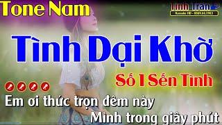 Tình Dại Khờ Karaoke Nhạc Sống Tone Nam - Tình Trần Organ