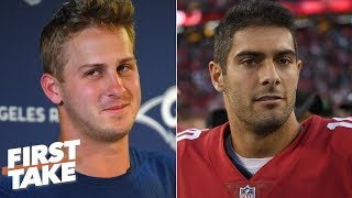 Jared Goff is under more pressure than Jimmy Garoppolo - Max Kellerman | First Take
