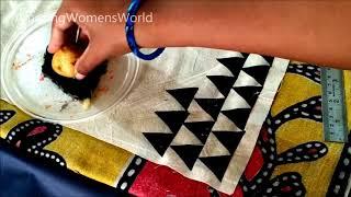 Vegetable block Printing | Fabric painting on Dupatta / Stole - DIY