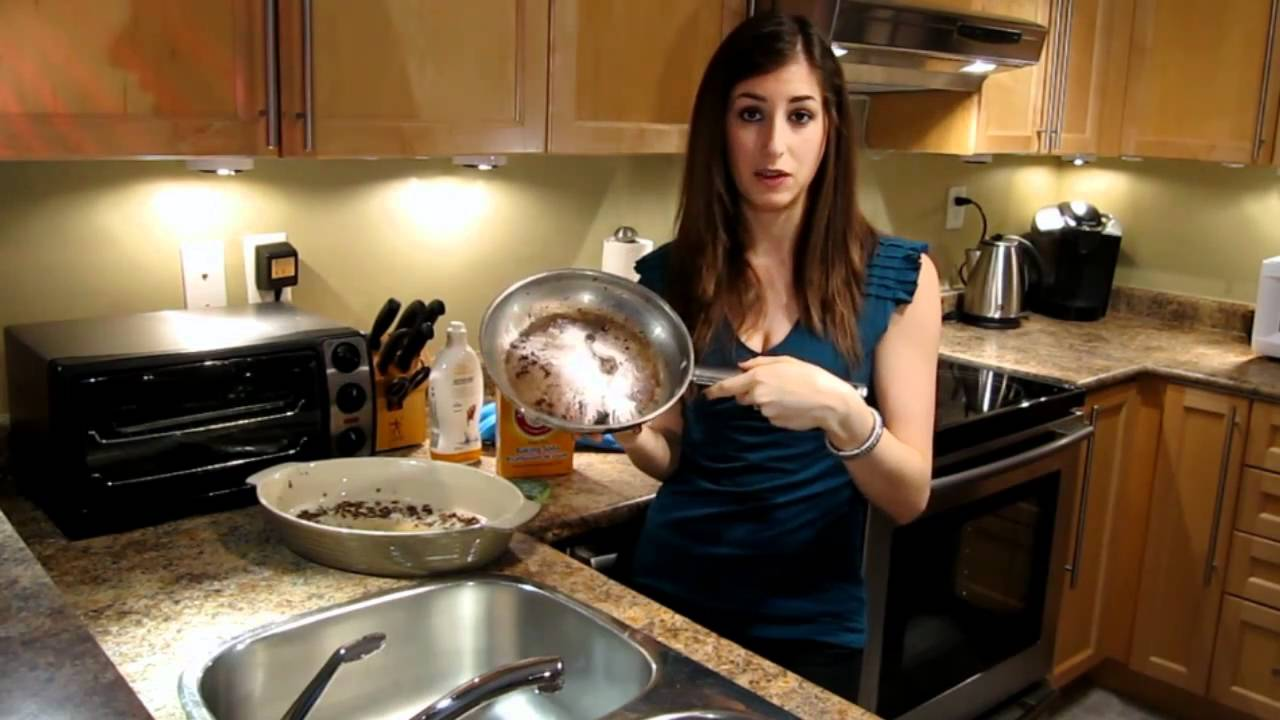 How To Clean A Burnt Pan Or Pot Easy Kitchen Cleaning