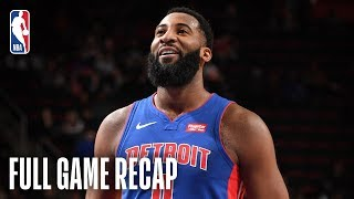 WIZARDS vs PISTONS | Drummond Goes For Season-High 32 Points | February 11, 2019