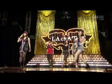 [HD] 2009.09.06 f(x) - Intro & LA chA TA [Debut Stage]