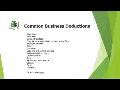 Business Deductions   What Can I Deduct
