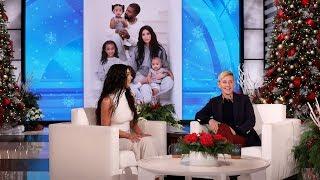 Kim Kardashian West Photoshopped North into the Family Holiday Card