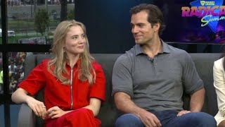 Henry Cavill and Freya Allan