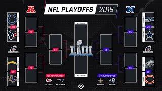 2018-2019 NFL Playoff Predictions! 100% CORRECT PLAYOFF BRACKET