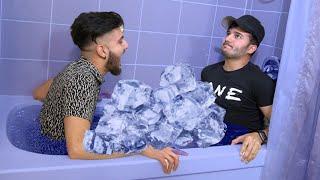 FREEZING ICE BATH CHALLENGE!