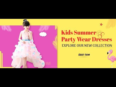 Party Dress for Girls Latest kids Party Wear Dresses 2019 Baby Gown Little Girls Western Dresses