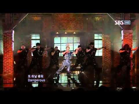 BoA - Dangerous + Hurricane Venus @ SBS Inkigayo 인기가요 100808
