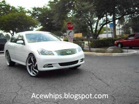 Acewhips For Sale Craigs White Infiniti M45 S On 22 Grano