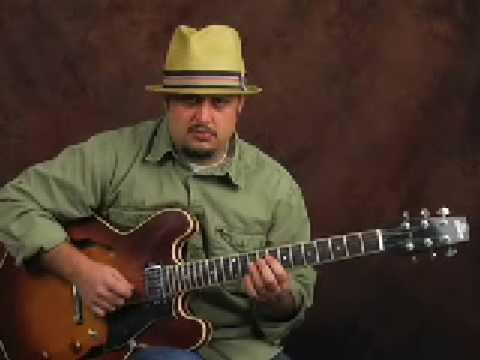 Learn guitar jazz rhythm & how solo w/ Harmonic Minor Scale