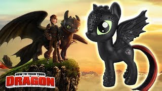 TOOTHLESS DRAGON PONY Custom How to Train Your Dragon Tutorial DIY