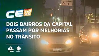 Dois bairros da capital passam por melhorias no trânsito