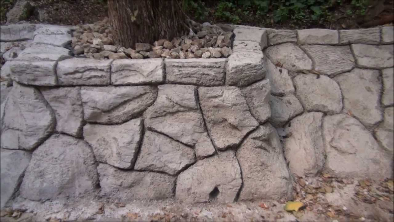 Fort Worth Dallas Retaining Wall Artificial Rock Carved