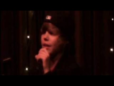 Justin singing Common Denominator - Justin Bieber Original