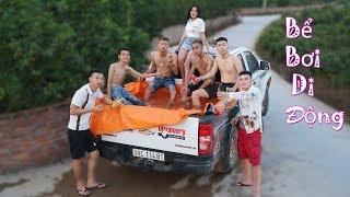 DT   Dựng Bể Bơi Trên Xe Bán Tải ( Swimming pool on cars )