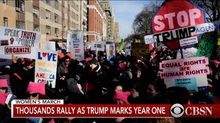 Thousands rally in 2018 Women's March