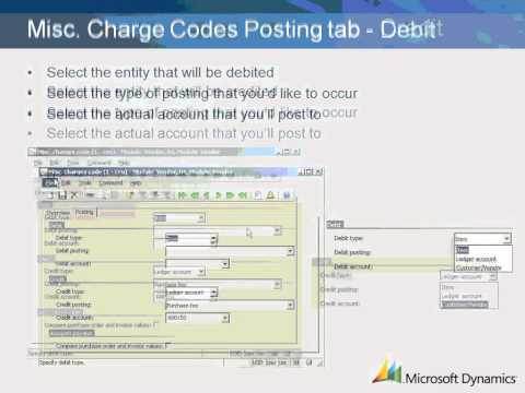 Dynamics AX 2009 Accounts Payable Miscellaneous Charges