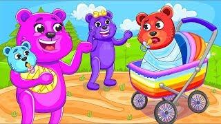 [Gummy]  Mega Gummy Bears Silence is Gold - Cartoons for Kids & Nursery Rhymes